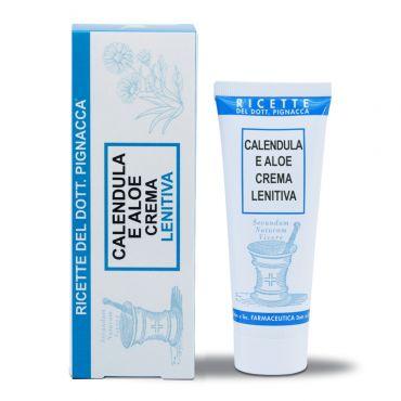 crema lenitiva alla calendula e aloe per irritazioni, arrossamenti e calmante in caso di prurito