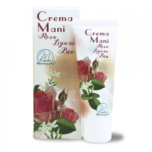 Crema Mani alla Rosa Ligure BIO 75ml - Carezza Mediterranea