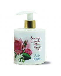 Sapone Liquido alla Rosa Ligure BIO 350ml - Carezza Mediterranea