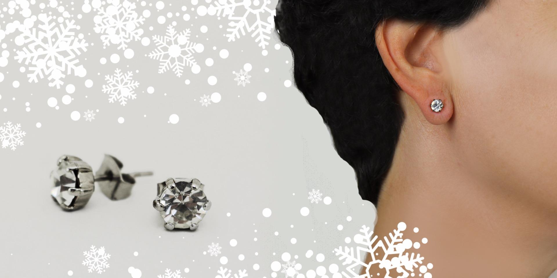 regalo natale orecchini punto luce